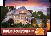 BedandBreakfast.com gift cards are the perfect gift for any occasion. Travel gift cards are the perfect way to give a romantic, wedding, anniversary, birthday, special occasion getaways. Gift certificates welcome at 4,000 bed and breakfast inns