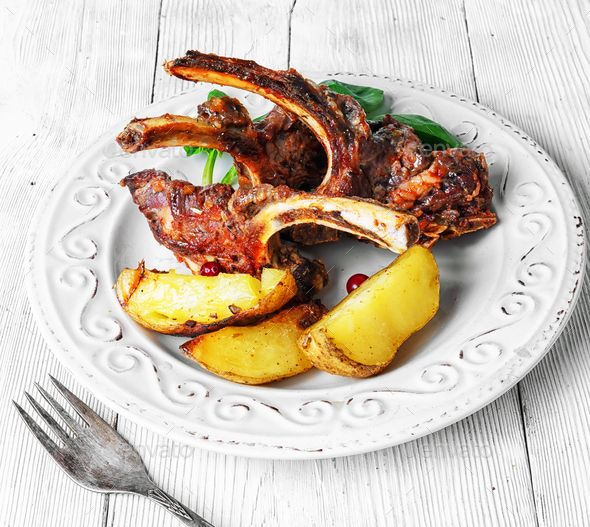 dish of baked lamb ribs - Stock Photo - Images Download here : https://photodune.net/item/dish-of-baked-lamb-ribs/20085450?s_rank=29&ref=Al-fatih