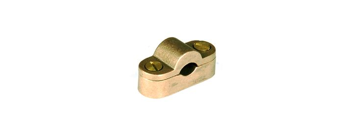 Heavy Duty Cast Cable Saddle are made from gunmetal or brass. These are used for 4 way connection straight or T joints for round conductors. The lids are secured by four screw.