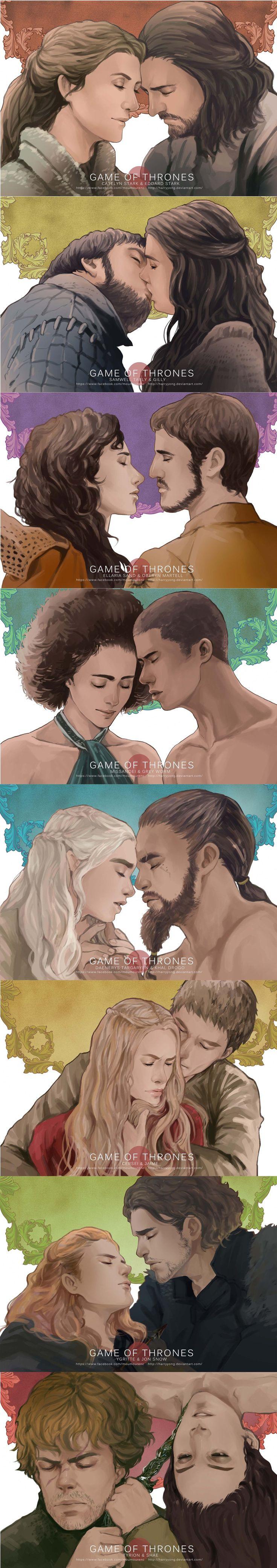 Les couples de Game of Thrones façon fan art
