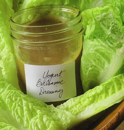YogurtBalsamicDressing by Salad in a Jar, via Flickr