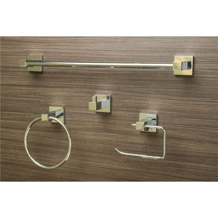 Sure Loc Modern 4 Piece Bathroom Accessory Set