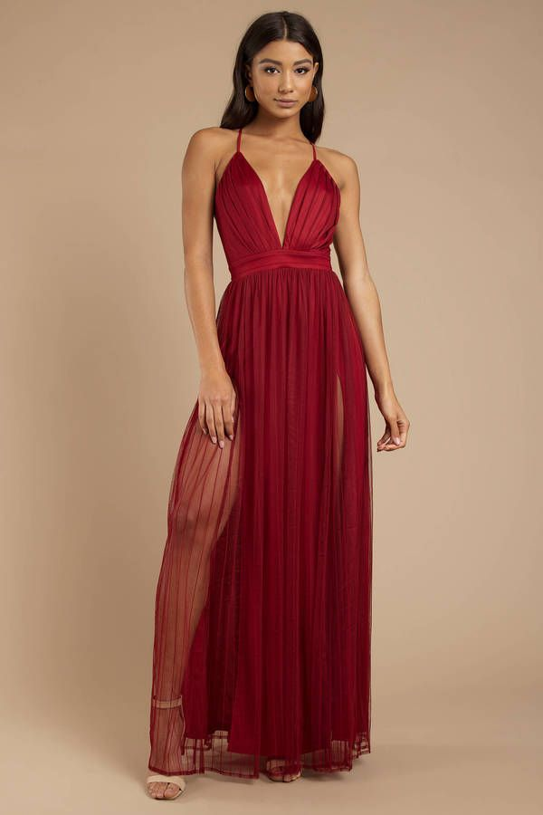 80bc5615bcd Flatter yourself in the Everything About You Red Maxi Dress. This  mesmerizing tulle gown features delicate cami straps