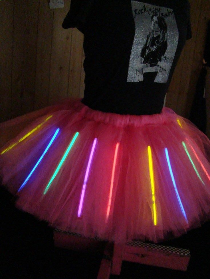 Glowing Adult L-XL Tutu / Holds glow sticks / Peacock Tutu / Choose a color tutu / Mardi Gras / Festivals / Burning Man. $65.00, via Etsy.