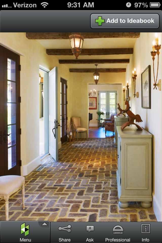 brick floor and wooden beams country cottage decor on floor and decor id=38296