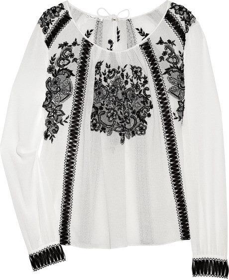 Oscar de la Renta - fashion inspired by romanian blouse