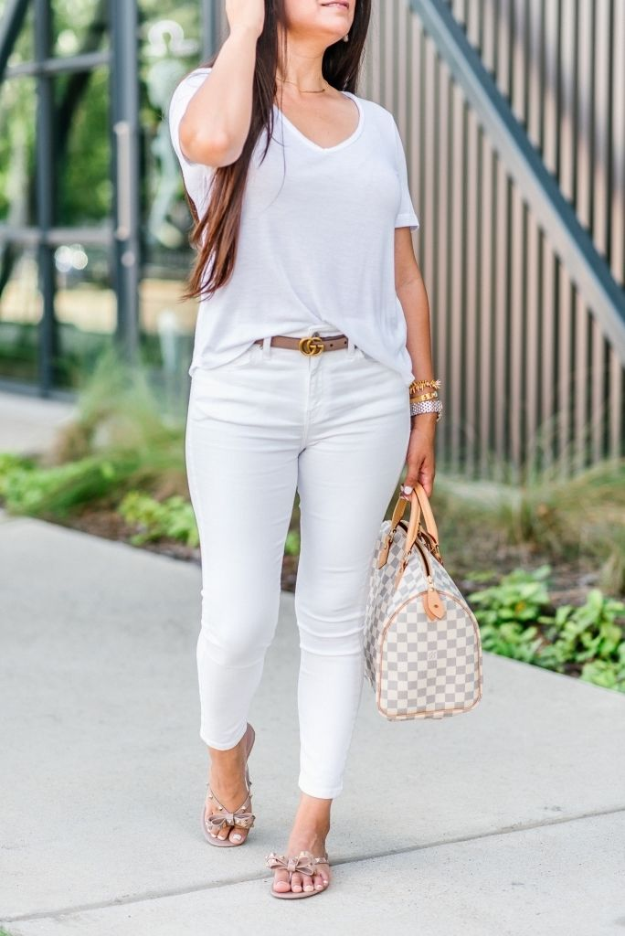 All White Outfit + My Favorite White Jeans