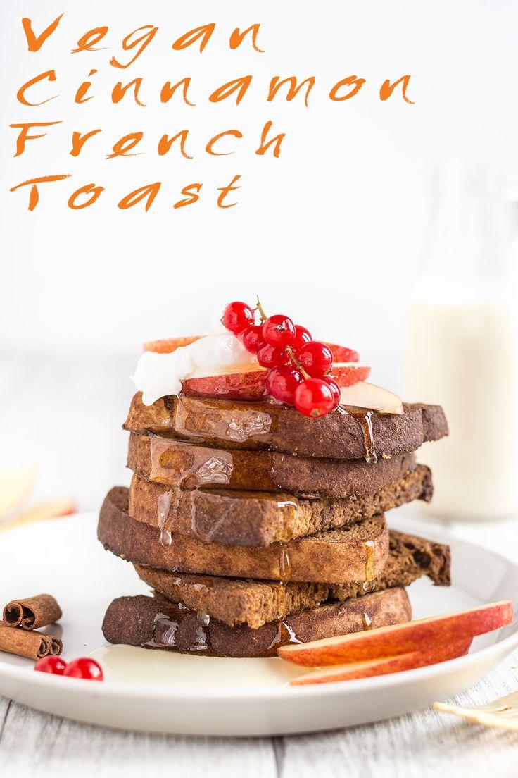 French toast vegano alla cannella senza glutine al forno - Baked vegan cinnamon French toast