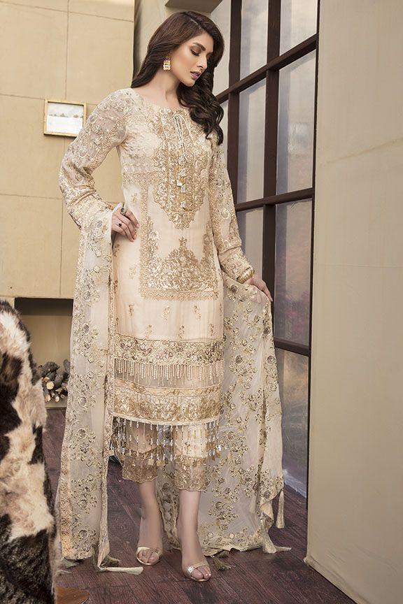 Motifz Luxury Lawn Dutch White in 2020 | Pakistani party
