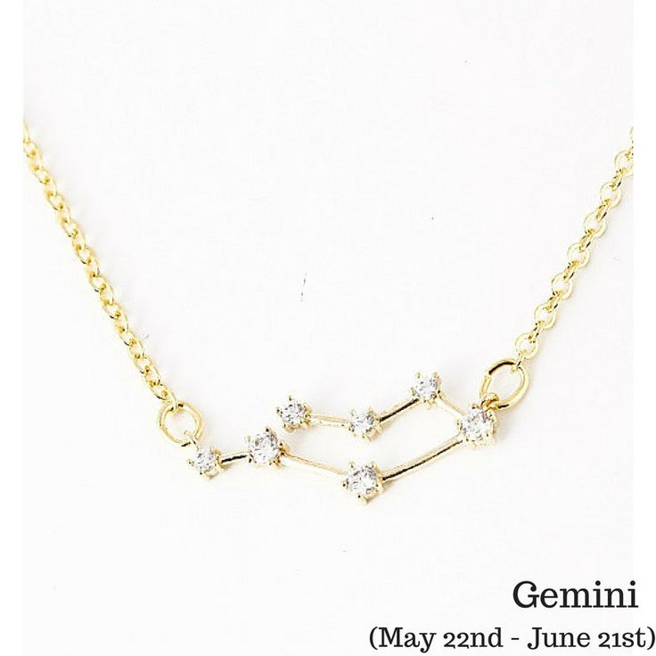 Gemini Constellation Zodiac Necklace (05/22-06/21) - As seen in Real Simple, People Magazine & more