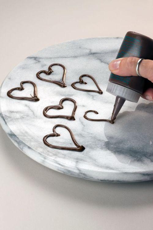 Open Chocolate Hearts - Easy #chocolate decos