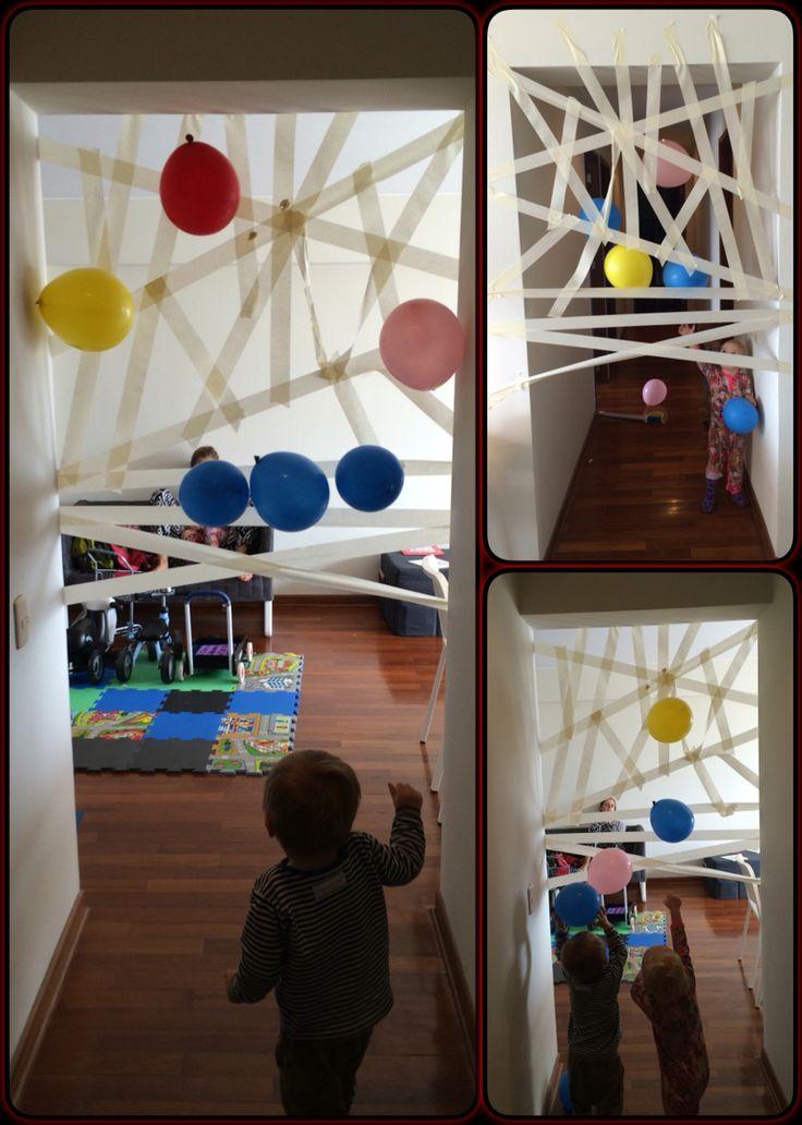 #spiderweb #ballons #tape #easy