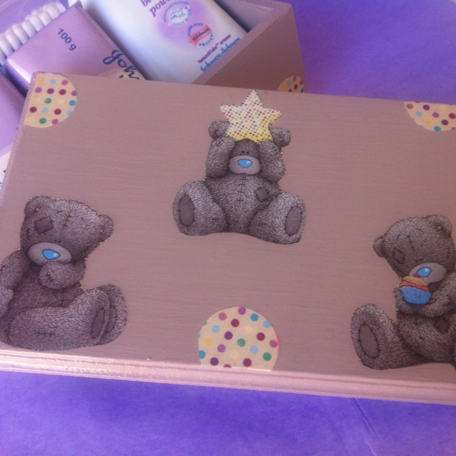 Personalised boxes I make for baby / kids rooms
