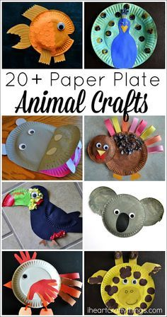 I HEART CRAFTY THINGS: 20+ Paper Plate Animal Crafts for Kids Koala craft