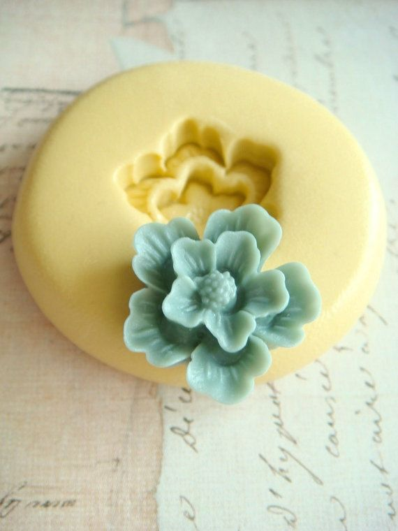 Woodland Flower - Flexible Silicone Mold - Push Mold, Jewelry Mold, Polymer Clay Mold, Resin Mold, Craft Mold, Food Mold, PMC Mold