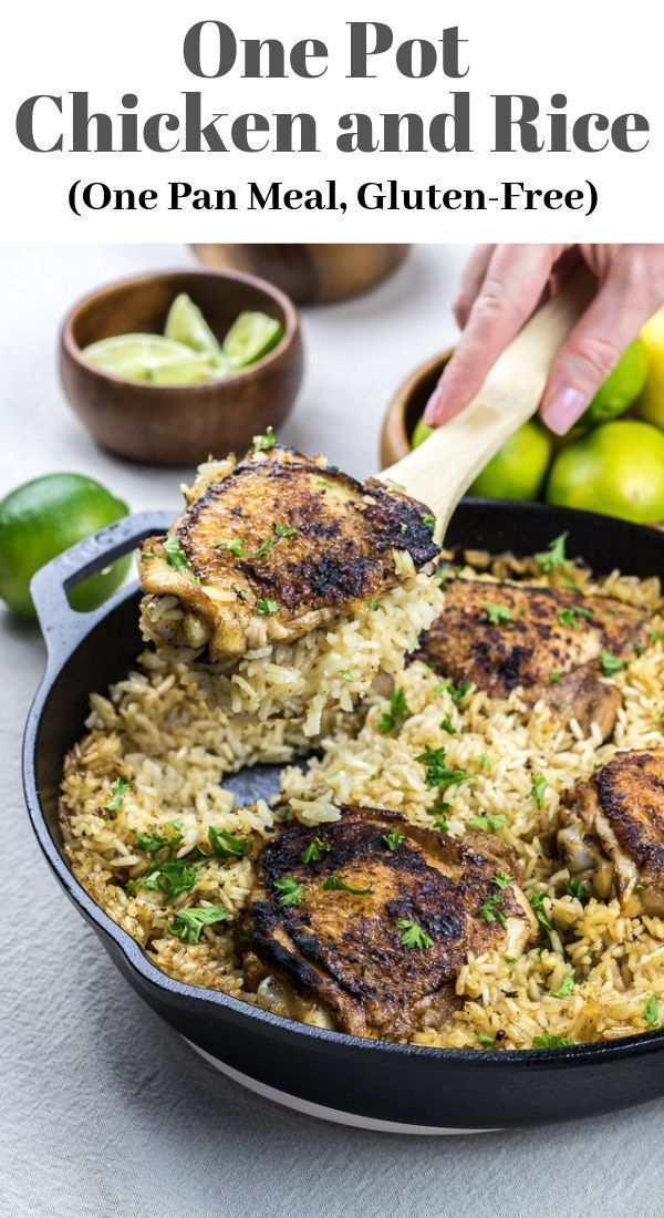 One Pot Chicken And Rice Veronika S Kitchen Recipe Healthy Dinner Recipes Chicken Recipes One Pot Chicken
