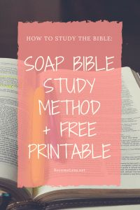 SOAP Bible Study Method with an Example from Acts + Free Printable – BecomeLess.net
