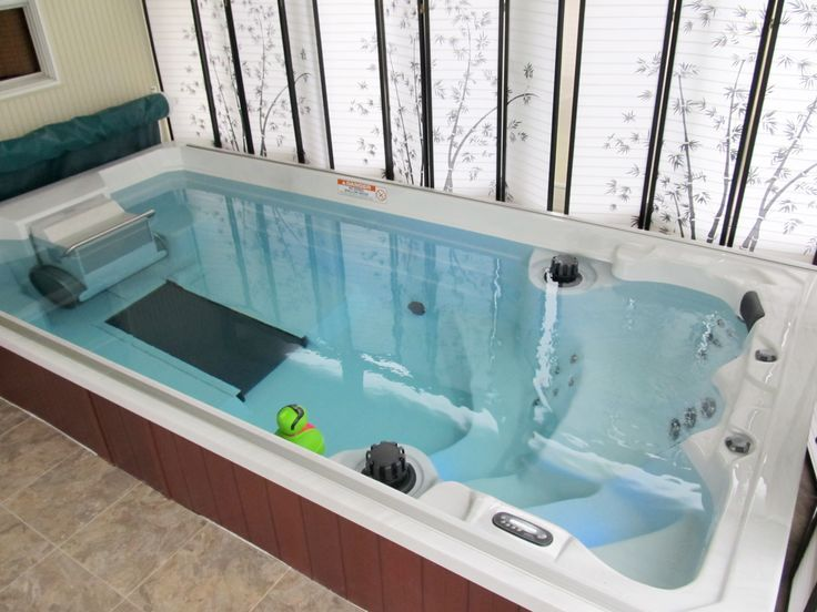 NEW 15' Endless Pools Swim Spa with Underwater Treadmill  Come see this spa in the Watson's Sharonville Superstore.