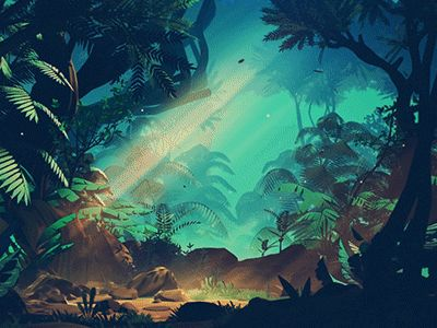 Stylized Jungle by Mikael Gustafsson