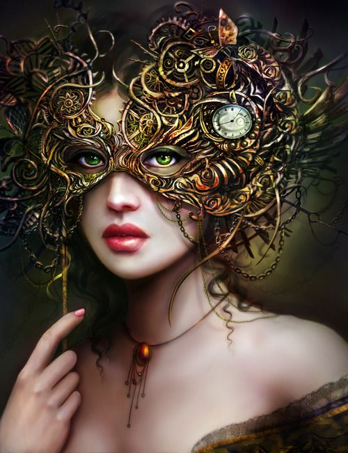 artmonia: The Girl With Emerald Eyes by Brooke Gillette.  There are very few people that I have ever felt I did not need to wear a mask of some sort around.  ~Charlotte (PixieWinksFairyWhispers)