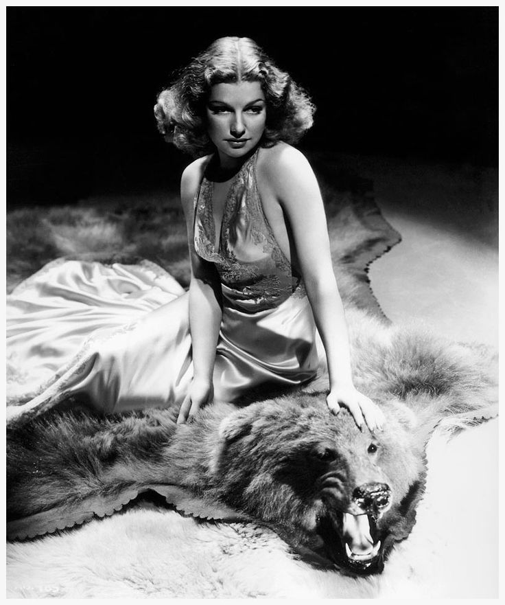 Ann Sheridan photographed on a bearskin rug by George Hurrell, 1939. #vintage #1930s #actresses