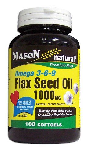 Mason Vitamins Flax Seed Oil 1000Mg (Omega 3-6-9 Linaza) Softgels, 100-Count Bottles (Pack of 2) * More info could be found at the image url.