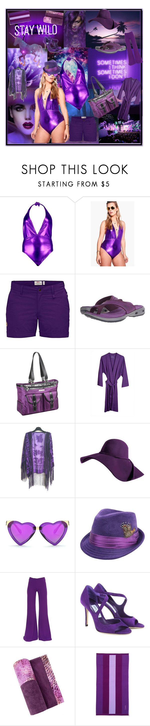 """purple metallic suit and monochrome outfit for late & later"" by caroline-buster-brown ❤ liked on Polyvore featuring Boohoo, Justin Bieber, Fjällräven, Columbia, Clark & Mayfield, IGH, Gareth Pugh, Jimmy Choo, Sun of a Beach and Lands' End"