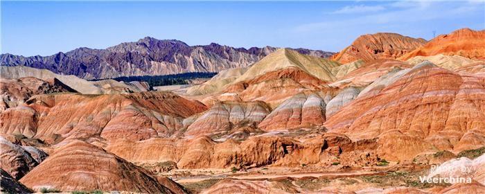 colorful mountains, Zhangye