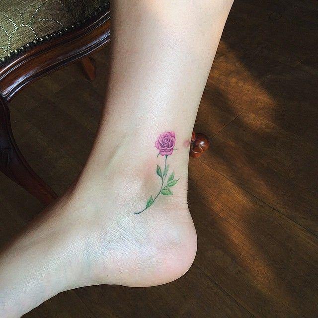 . 보라색 색감의 장미 #tattoo #tatuaje #tattooer  #타투#난도타투