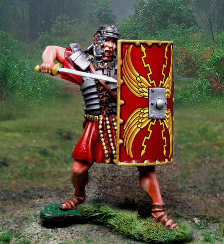 Rodney's Diorama Gallery - CS00954 ROMAN ATTACKING WITH GLADIUS