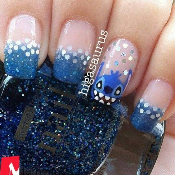 Our top way to flaunt our Disney fever is nail art. There's so much more ins…