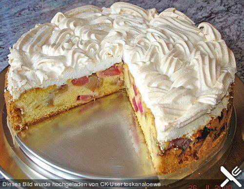 Rhabarber – Baiser – Kuchen  – Rezepte
