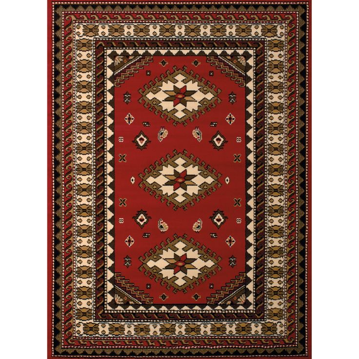 "Westfield Home Montclaire Feranda Traditional Red Accent Rug - 1'11"" x 3'3"", Size 1'11"" x 3'3"""