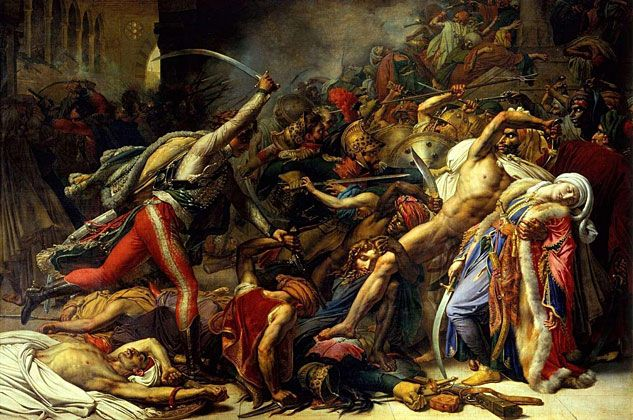 Anne-Louis Girodet de Roussy-Trioson, Revolt in Cairo on 21 October 1798  1810