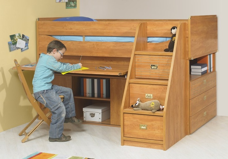 Gautier calypso cabin bed click to buy cool kids cabin for Cool high beds