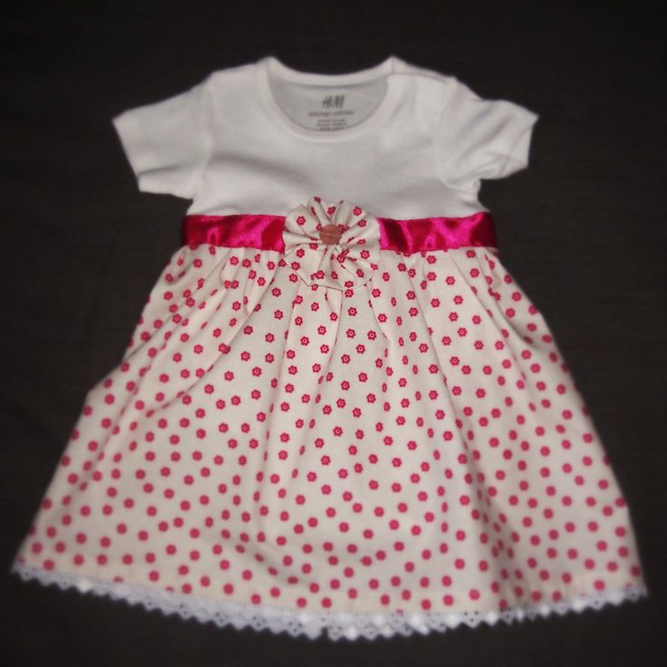 H&M onesie updated with DIY skirt. Gift for baby Eszti.