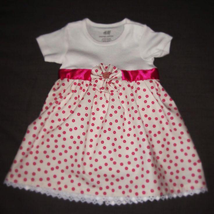 H&M onesie updated with DIY skirt. Gift for baby Eszti.