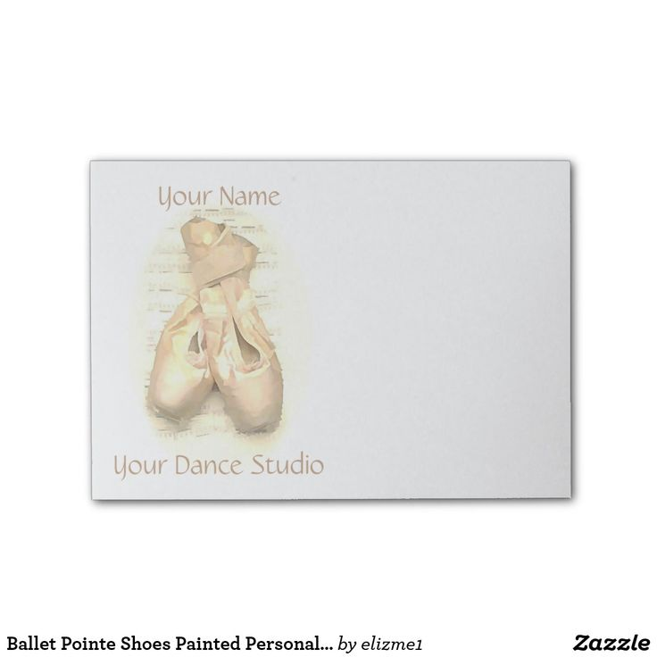 Ballet pointe shoes painting personalized with your name and your dance studio or text. A fantastic gift for a ballerina or a dance teacher.