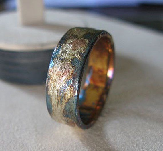 Mens Wedding Ring 8mm Comfort Fit Rustic Mens Wedding Band Gold Unique Mens Ring Viking Wedding Ring Mens Rustic Wedding Bands Rings For Men Mens Wedding Rings
