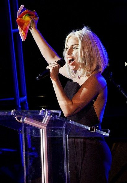 Lady GaGa Delivers Stirring Speech, Sings National Anthem at Gay Pride