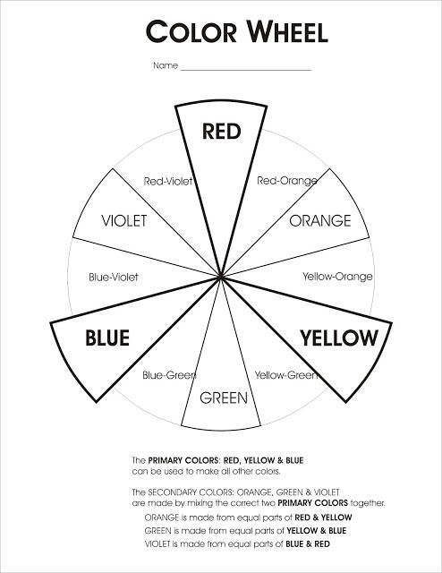 Worksheet Color Wheel Worksheet 1000 ideas about color wheel worksheet on pinterest worksheet