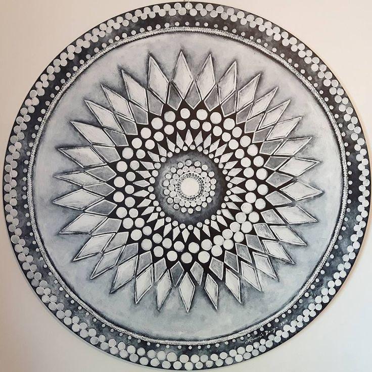 Acrylic painting by Hammi´s Design.  Blackandwhite.