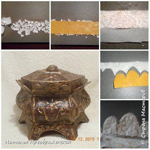 Декор предметов Мастер-класс Аппликация Удобный способ нанесения яичной скорлупы Скорлупа яичная фото 1