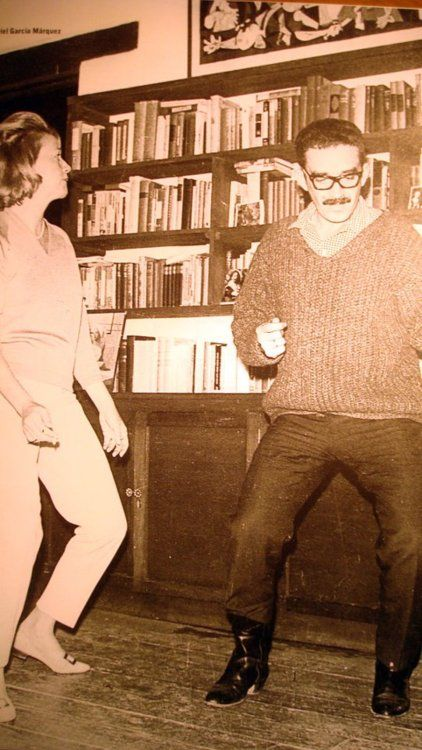 neverfall:  Gabriel Garcia Marquez dancing 'the Twist' with Elena Garro.