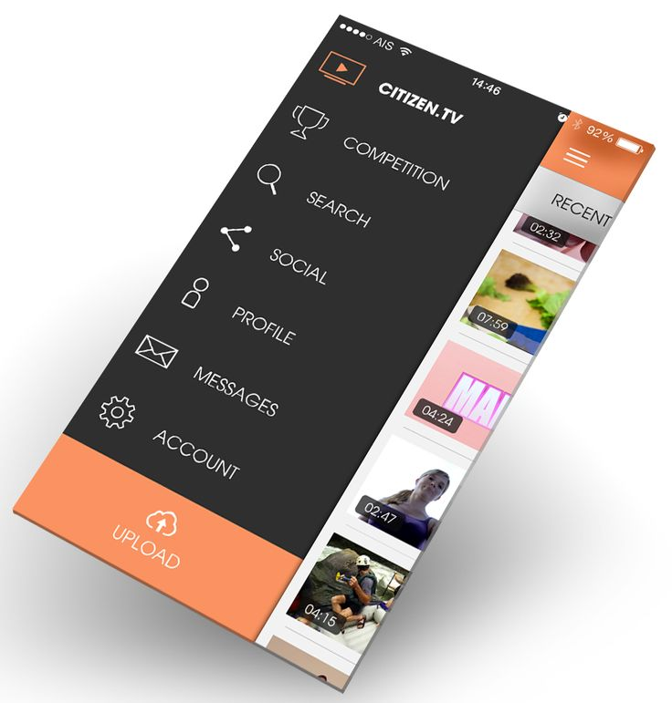 citizen.tv - Mobile Interface on Creattica: Your source for design inspiration