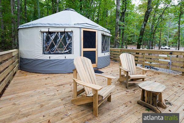 Yurt Camping At Sweetwater Creek State Park Yurt Camping