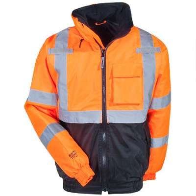 Tingley Jacket: Orange J26119 Bomber II Hi-Vis Quilt Lined Jacket    $37.00