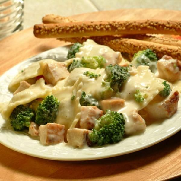 Serve this quick and delicious Double Chicken and Broccoli Alfredo pasta dish on any occasion.
