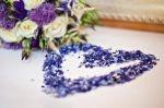 Blue confetti heart by www.mcavoyweddings.co.uk