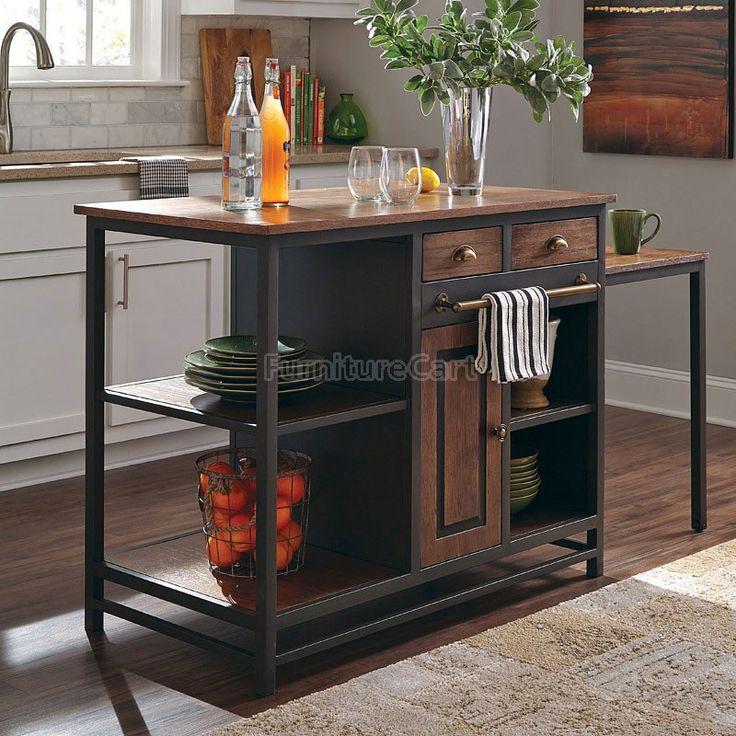 Industrial Kitchen Island Coaster Furniture | Furniture Cart